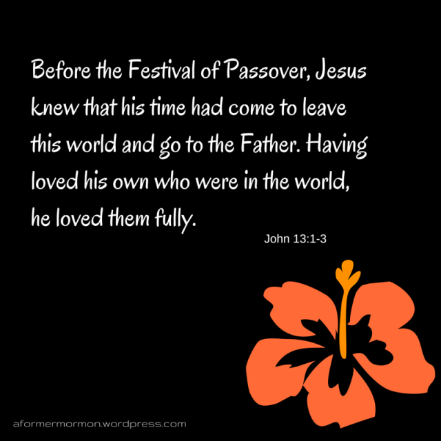 Before the Festival of Passover, Jesus